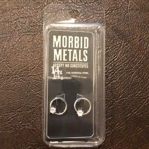 NEW MorbidMetals 14g Septum Ring Steel w/Bling